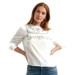 NWT Lucky Brand Peasant Blouse